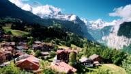 Bernese panorama of Jungfrau ALPS