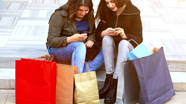 HD: Best Friends Resting After Shopping