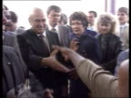 Best of 1990 Collection T04099012 491990 South African President FW de Klerk visits Soweto Soweto F W de Klerk greeted by crowds of black and white...