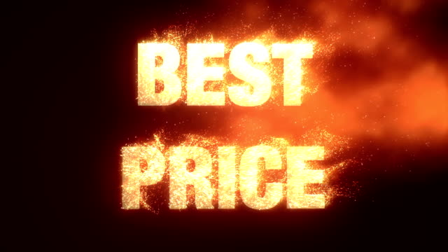 Best Price With Fire Effect - Alpha Channel