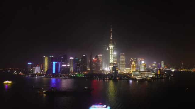 Best Skyline Shot of Shanghai ever- 24h Day to night to Day Zoom in and out, Pudong, Huangpu River, Oriental Pearl Tower, Jin Mao Tower, Shanghai International Finance Centre, Shanghai World Financial Center,  city lights, Shanghai, China