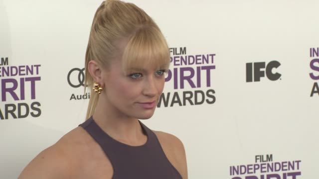 Beth Behrs at the 2012 Film Independent Spirit Awards Arrivals on 2/25/12 in Santa Monica CA
