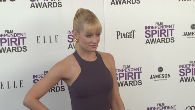 Beth Behrs at the 2012 Film Independent Spirit Awards Arrivals on 2/25/12 in Santa Monica CA United States