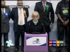 SPECIAL 0400 0500 Bethnal Green and Bow Acting Returning Officer declaring result of Bethnal Green and Bow constituency SOT George Galloway takes...