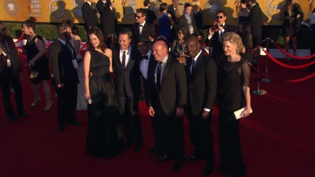 Betsy Brandt Bryan Cranston Giancarlo Esposito Dean Norris at 18th Annual Screen Actors Guild Awards Arrivals on 1/29/12 in Los Angeles CA