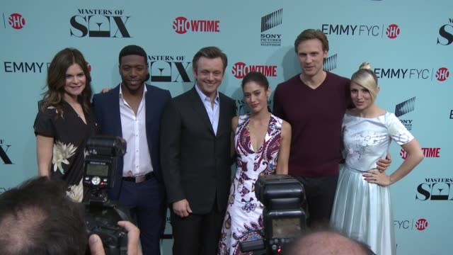Betsy Brandt Jocko Sims Michael Sheen Lizzy Caplan Teddy Sears and Annaleigh Ashford at the 'Masters of Sex' Exclusive Screening and Panel Discussion...