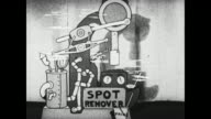 Betty Boop demonstrates a spot remover invention at the Big Invention Show