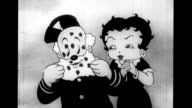 Betty Boop gives gratitude kisses to Grampy