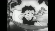Betty Boop tries to relax in the country but nature noises disturb her