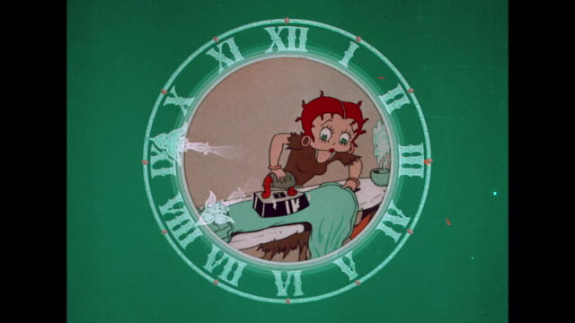 Betty Boop works around the clock