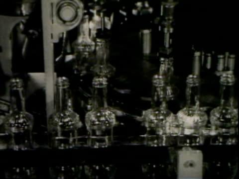 Beverage bottling on conveyor belt