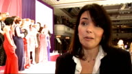 Beverley Craven interview SOT SHOT along racks of clothes Andrea McLean interview as standing next to Joe Swash SOT Models posing for photocall Joe...