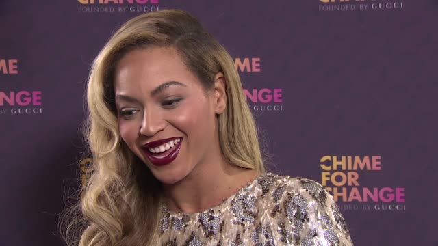 INTERVIEW Beyonce Knowles on the event at 'Sound Of Change' Concert on 6/1/2013 in London UK