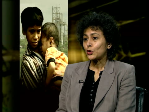 Chemical plant continues to leak/Survivors still awaiting compensation ITN ENGLAND London INT Irene Khan interview SOT Many people are still...