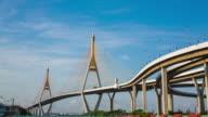 Bhumibol Brücke-Brücke Kommunikation Transport von Thailand.
