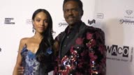 Bianca Lawson and Richard Lawson at The Wearable Art Gala at California African American Museum on April 29 2017 in Los Angeles California
