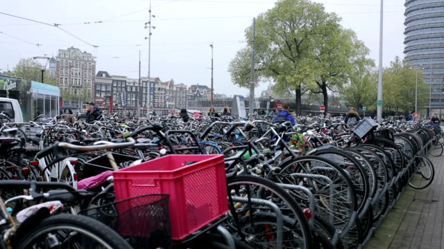 Bicycle in Amsterdam ,People use transportation