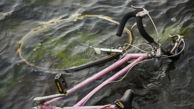 MS Bicycle shallow water found in at low tide, Glen Cove LI