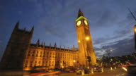 Big Ben and Parliament time-lapse. London