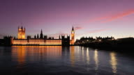 Big Ben and River Thames at Dusk Timelapse, HD Video