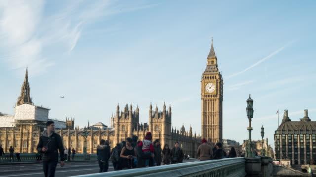 Big Ben and westminster bridge in London.