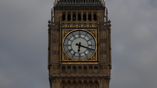 Big Ben Clock Face time lapse