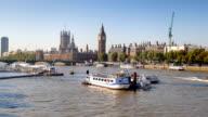 Big Ben, il London eye e dall'abbazia di Westminster a Londra, Regno Unito