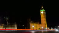 Big Ben London night time lapse