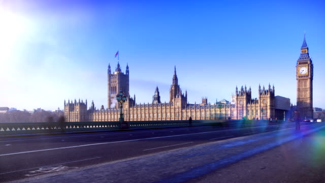 Big Ben, London time-lapse. HD