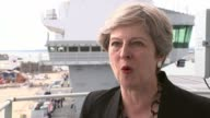 Theresa May says it simply 'cannot be right' to silence the bongs for four years Hampshire Portsmouth EXT Theresa May MP interview SOT Well of course...