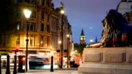 Big Ben & Trafalgar square in London, UK