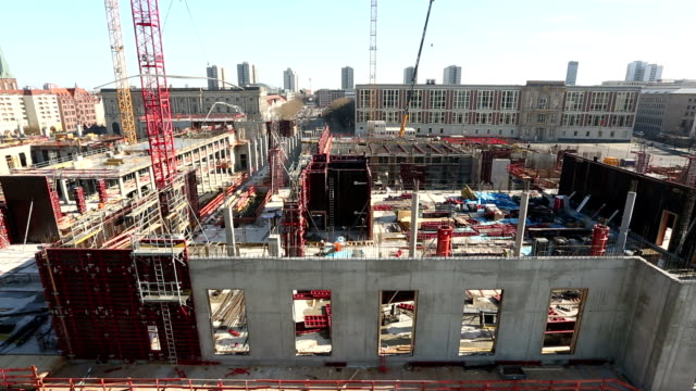 Big Construction Site in Berlin, Time Lapse