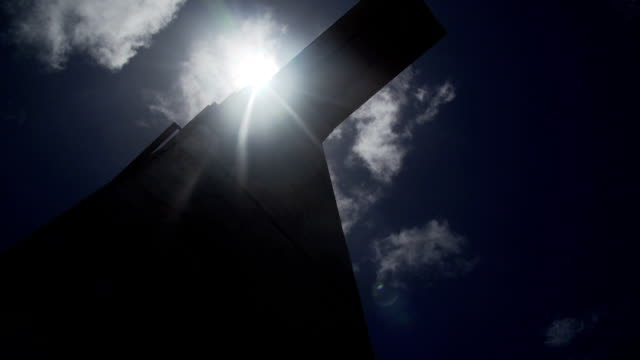 Big cross on the sun