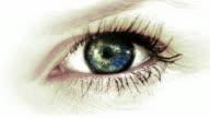 big Auge mit schönen Reflexion HD