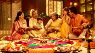 Big family celebrating diwali festival, Delhi, India