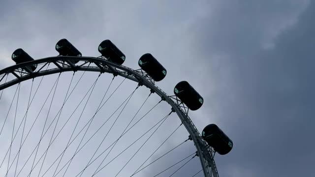 VDO :Big ferris wheel with cabins