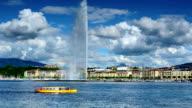 Große Brunnen des Genfer See