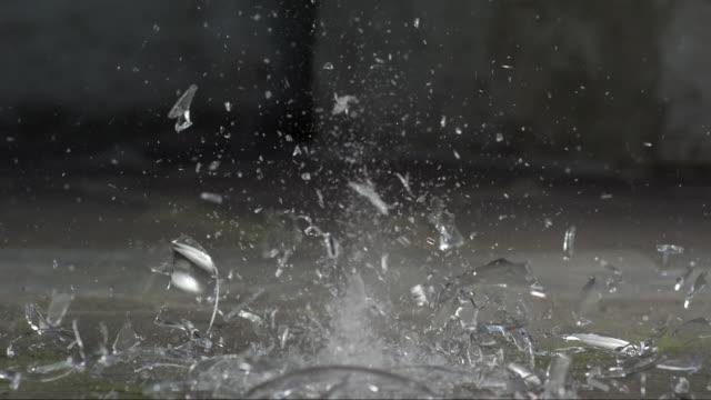 Big Glass Vase Is Falling And Bursting