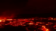 Big lava flow timelapse 2 Night Glowing Hot flow from Kilauea Active Volcano Puu Oo Vent Active Volcano Magma