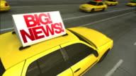 Big News! Taxi Advertising Message Board (Loop)