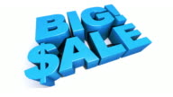 Big! Sale Blue 3D Graphic Text