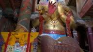 A Big Statue Of Buddha Inside The Basgo Monastery, Ladakh, India
