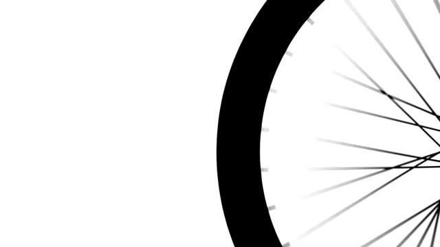Ruota di bicicletta silhouette