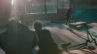 BMX biker-jumping in bike park