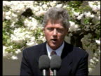 / Bill Clinton makes statement at press conference about Waco Massacre / burning buildings at Waco Bill Clinton Press Conference About Waco Massacre...