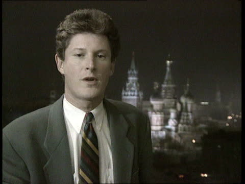 Bill Clinton meets Boris Yeltsin in Moscow ITN CMS Wiliams i/c SOT sign off C4N