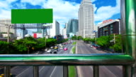 Billboard. Commercial Sign. street traffic
