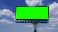 Plakat mit grünen Bildschirm chroma key