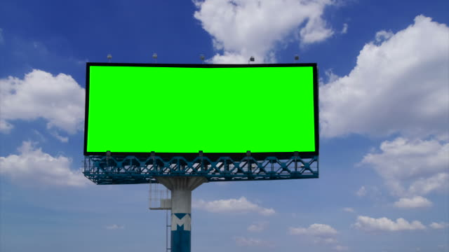Billboard with green screen chroma key