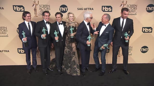 Billy Crudup Brian d'arcy James Mark Ruffalo Rachel McAdams John Slattery Michael Keaton and Liev Schreiber at the 22nd Annual Screen Actors Guild...